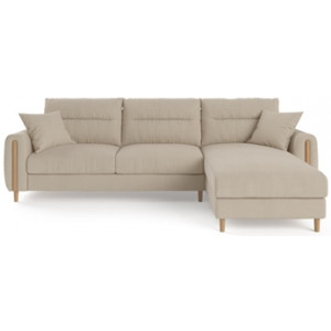 Oslo 3 Seater Modular Sofa with Chaise French Beige Right Chaise
