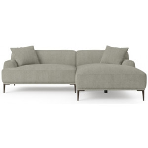 Seta 4 Seater Sofa with Chaise Gainsboro Grey Right Chaise