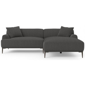 Seta 4 Seater Sofa with Chaise Nickel Grey Right Chaise