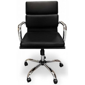 Soft Pad Management Boardroom Office Chair - Black by Interior Secrets - AfterPay Available