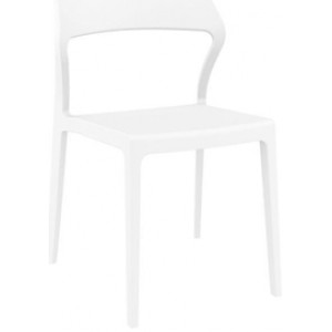 Specter Indoor / Outdoor Dining Chair - White by Interior Secrets - AfterPay Available