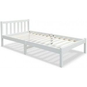 Single Size Wooden White Bed Frame