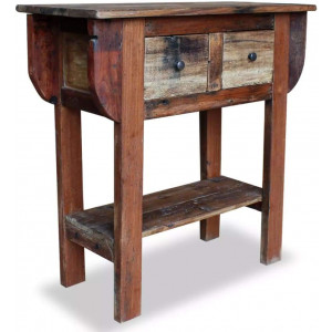 Console Table Solid Reclaimed Wood 80 x 35 x 80 Cm