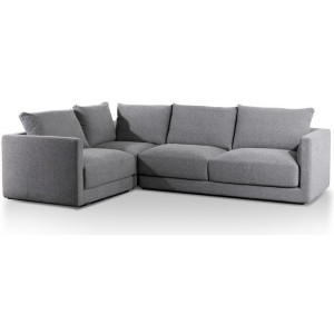 Delia Fabric Left Corner Sofa - Rock Grey by Interior Secrets - AfterPay Available