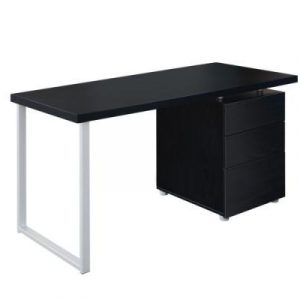 Office Study Computer Desk w/ 3 Drawer Cabinet