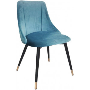 Seat Of 2 Sofia Velvet Fabric Dining Chair - Blue