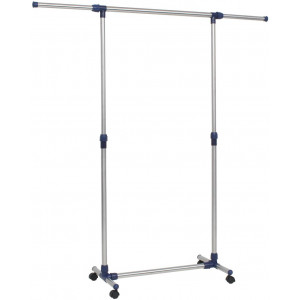 vidaXL Adjustable Clothes Rack Stainless Steel 165x44x150 cm Silver
