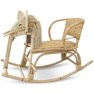 Widya Rattan Kids Elephant Rocking Chair - Natural by Interior Secrets - AfterPay Available