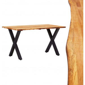vidaXL Dining Table 140x80x75 cm Solid Oak Wood