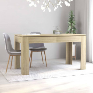 vidaXL Dining Table Sonoma Oak 140x70x76 cm Chipboard