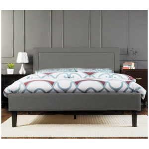 Istyle Wiltshire Double Bed Frame Fabric Grey
