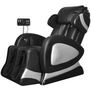 Massage Chair with Super Screen Black Faux Leather Electric Recliner