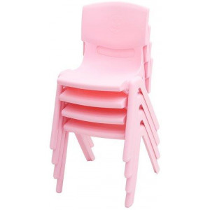 Set of 6 Kids Plastic Pink Chair Up to 100KG