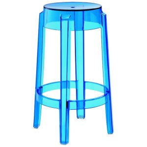 Replica Charles Ghost Stool - transparent dark blue
