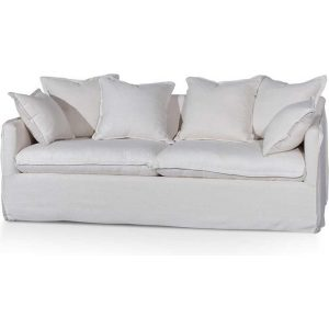 Candice 3 Seater Sofa - Linen Beige by Interior Secrets - AfterPay Available