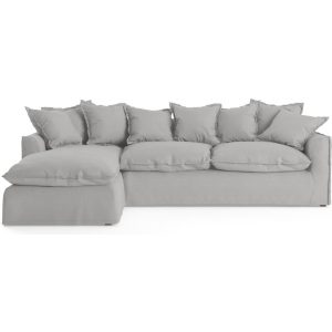Palermo 3 Seater Modular Sofa with Chaise Cloud Grey Left Chaise