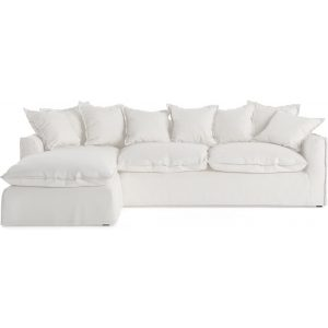 Palermo 3 Seater Modular Sofa with Chaise Corinthian White Left Chaise