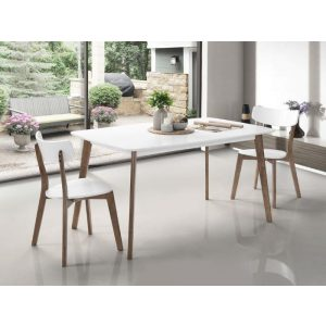 Claire Dining Table | Dark Hardwood Frame | White Top | Shop Online or Instore | B2C Furniture