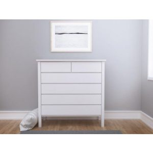 Myer Hardwood White Chest of Drawers | Tallboy | Shop Online or Instore | B2C Furniture