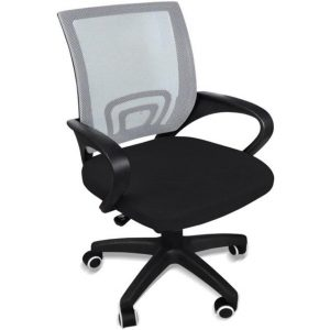 Office Chair With Armrest Mesh Gaming Computer Executive Seating Grey