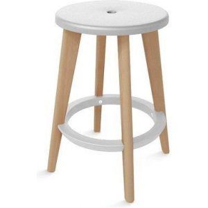Cathy Bar, Cafe and Office Stool - White