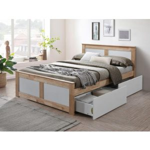 Coco Hardwood Double Bed with Storage | Shop Online or Instore | B2C Furniture