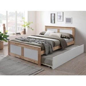 Coco Hardwood Double Bed with Trundle | Shop Online or Instore | B2C Furniture
