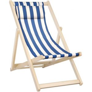 Haym Foldable Outdoor Chair, Blue Wood Blue/White Frisse Outdoors