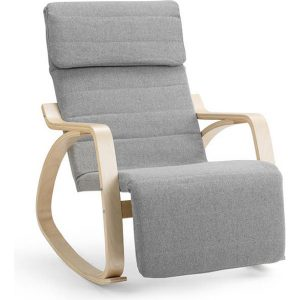 Ovela Evendale Rocking Chair With Footrest (Light Grey)