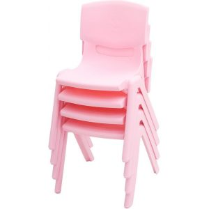 Set of 12 Kids Plastic Pink Chair Up to 100KG