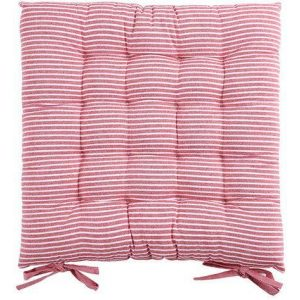 Super Soft Thicken Cushion Office Chairs Rocking Chair Car Mat Striped Pad- Ruby Red