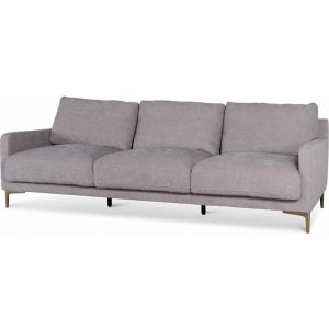 Salazar 4 Seater Fabric Sofa - Oyster Beige by Interior Secrets - AfterPay Available