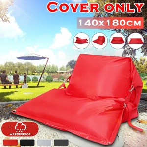 Giant Bean Bag Cover Floor Cushion Pillow Waterproof Lazy Sofa Bed Garden Indoor Outdoor【Only Cover】【NO Fillings】(black)