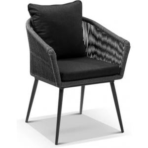 Herman Outdoor Rope And Aluminium Dining Chair - Outdoor Chairs - Carbon Grey