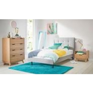 Modena King Single Bedroom Package With Niva Tallboy Brown