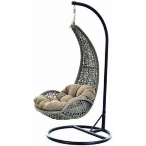 NILE OUTDOOR HANGING CHAIR - BRUSHED TAUPE