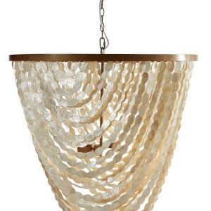 Oyster Oval Shell Chandelier Large