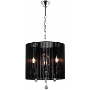 Paris Crystal Chandelier Pendant Light - Chrome / Black