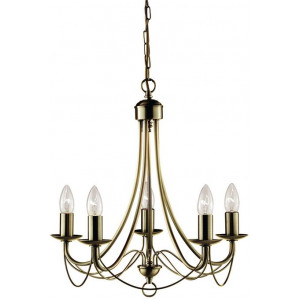 Zanzibar Chandelier Light - Antique Brass