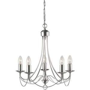 Zanzibar Chandelier Light - Satin Chrome