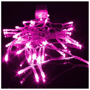 3M Pink Battery Operated Lights 30 LED Micro Silver Wire Waterproof Fairy Xmas Party