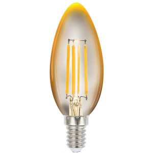 4W 2200K Amber E14 Dimmable LED Candle Globe Glass Clear CAFE Lighting & Living