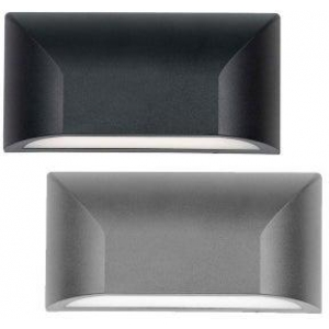 Bloc Outdoor LED Wall Light CCT 5w Non-Dimmable in Black or Silver