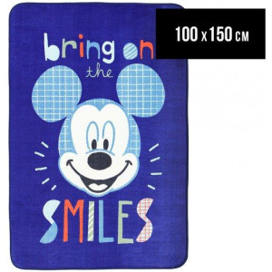 Castle Kids 100x150cm Mickey Mouse Bring On The Smiles Rug - Blue/Multi