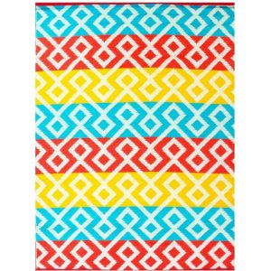 Angles Orange and Yellow Multi Outdoor Rug (120x170cm)