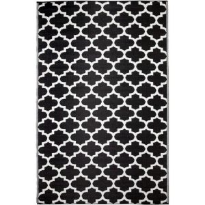 Tangier Black and White Outdoor Rug (240x300cm)