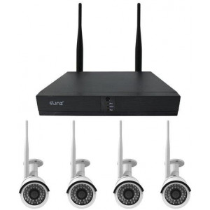 4CH CCTV Wireless Security System 2MP IP WiFi Camera 4x 1080P NVR Outdoor 1TB H265