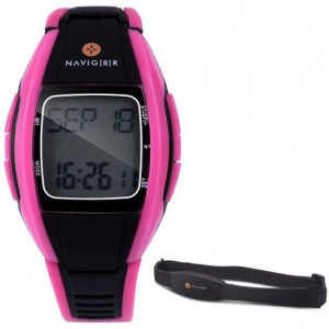 Laser Sport Watch Health Heart Rate Activity Monitor/Tracker w/ Chest Strap Pink