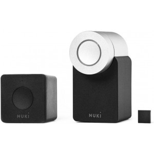 Nuki Smart Door Lock & Sensor w/ AU/NZ Socket Bridge Combo Home Security Kit