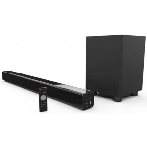 Laser 2.1-Channel Soundbar w/ Bluetooth & Wireless Sub-Woofer